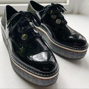 Zara patent leather platform shoes